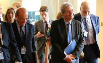 Gentiloni con alcuni ministri fra quelli sorteggiati