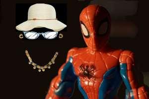 La donna invisibile, qui in compagnia di Spiderman