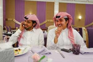 Un istante della festa organizzata dal sindacato dei meccanici e  carrozzieri di Riyad